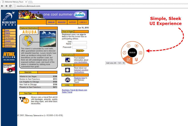 exploratory testing with jira qTest eXplorer, Simple UI