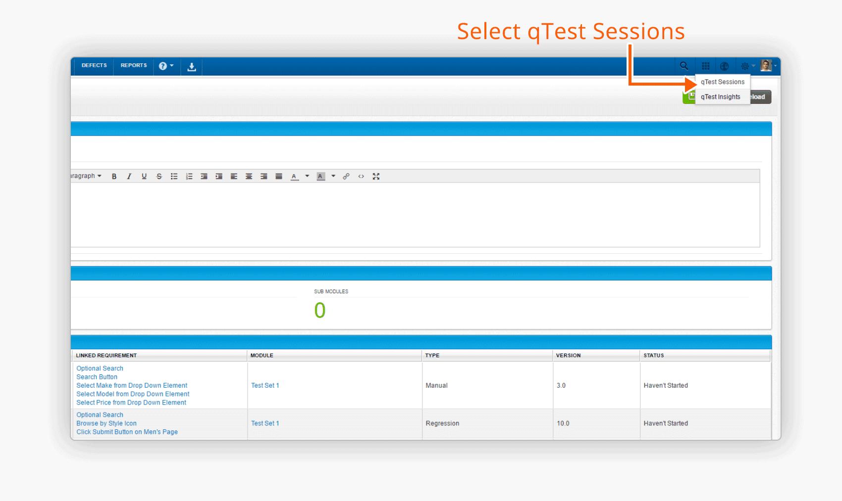 select-qtest-sessions