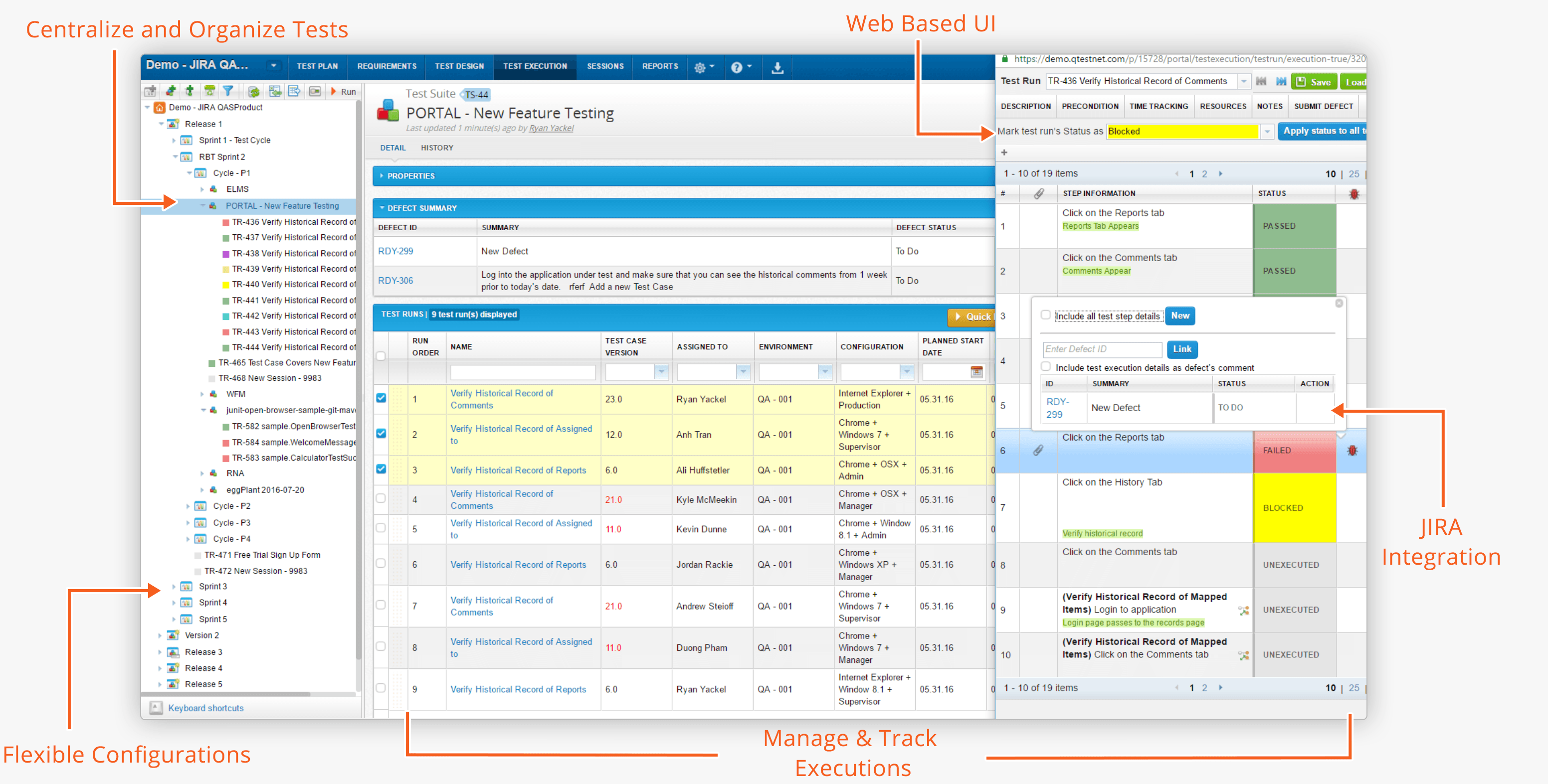 qTest Manager modern UI