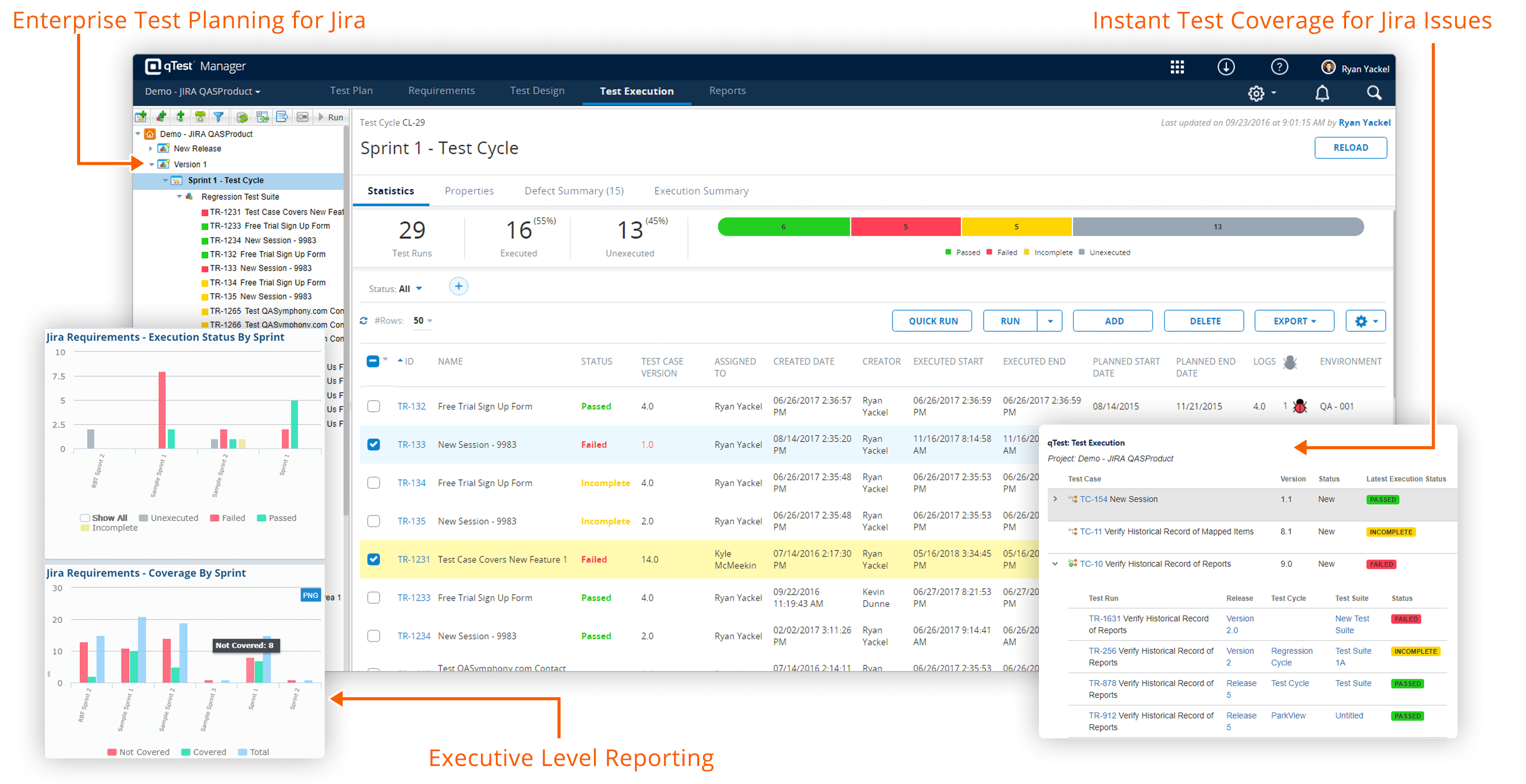 qTest Test Management for Jira Software